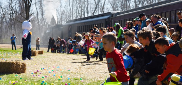 Springtime family fun on the Everett Railroad's Easter EGGSpress!