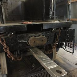 August 4, 2015: A new tender drawbar has been fabricated and installed.