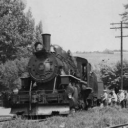 A second photo showing #11 at Hammondsport on a May 1949 B&H excursion for the NRHS.  The B&H operated several of these trips during the 1940s. In less than a year, #11 would be retired and the B&H converted to diesel power.  Photographer Unknown; Collection of Alan W. Maples