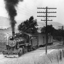 #11 operating in service on the Bath and Hammondsport's line between the railroad's namesake towns.  Horace Runey Photograph; Courtesy Rail City Historical Museum Photo Collection